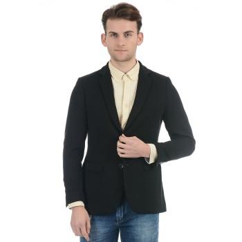 Indian Terrain Men Black Casual Wear Jacket