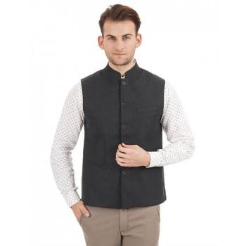 Indian Terrain Men Dark Grey Casual Wear Jacket