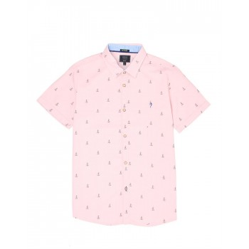 Indian Terrain Kids Boys Casual Wear Pink Shirt