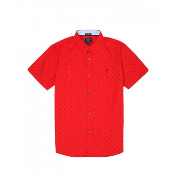 Indian Terrain Kids Boys Casual Wear Red Shirt