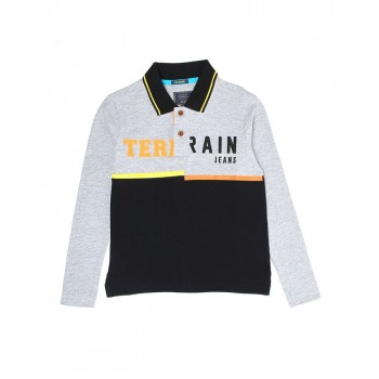 Indian Terrain Kids Boys Casual Wear Grey T-Shirt