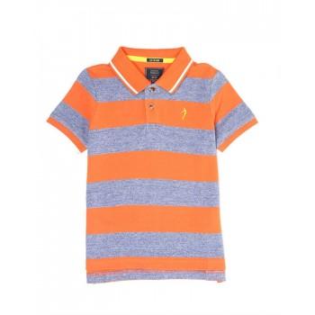 Indian Terrain Kids Boys Casual Wear Orange T-Shirt