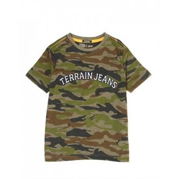 Indian Terrain Kids Boys Casual Wear Green T-Shirt