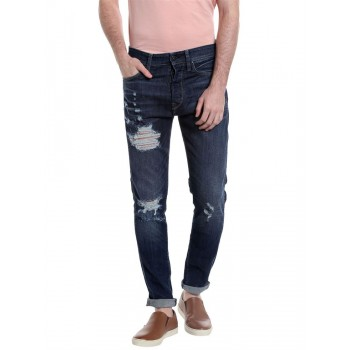 Jack & Jones Men Casual Wear Solid Jeans