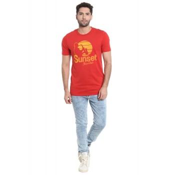 Jack & Jones Men Casual Wear Printed T-shirt