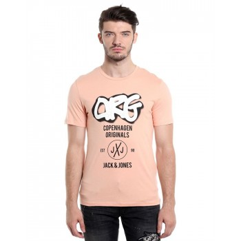 Jack & Jones Men Casual Wear Chest Print T-shirt