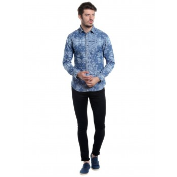 Jack & Jones Men Casual Wear Plain Coloured  Shirt