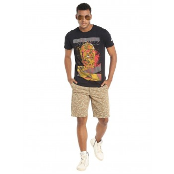 Jack & Jones Men Casual Wear Printed Shorts