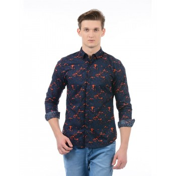 Jack n Jones Men Casual Wear Printed Shirt