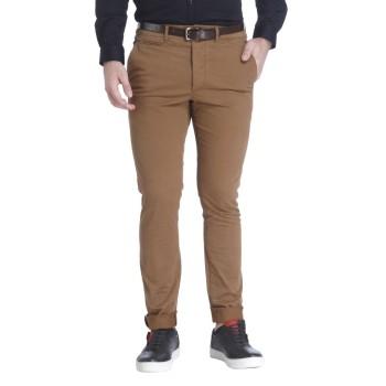 Jack & Jones Men Casual Wear Solid Trousers
