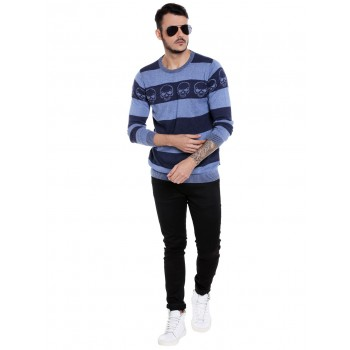 Jack & Jones Men Casual Wear Striped Pullover