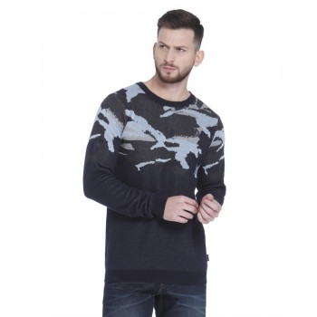 Jack & Jones Men Casual Wear Printed Pullover