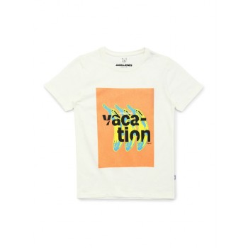 Jack & Jones Junior Off White T-Shirt For Boys