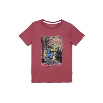 Jack & Jones Junior Pink T-Shirt For Boys