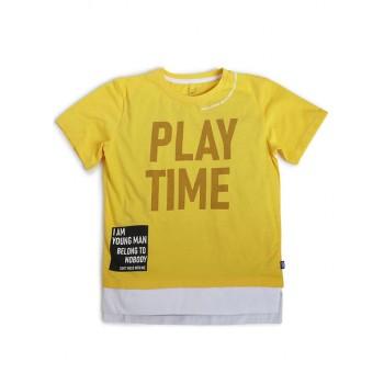 Jack & Jones Junior Yellow T-Shirt For Boys