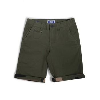 Jack & Jones Junior Dark Green Shorts For Boys
