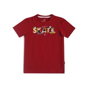 Jack & Jones Junior Brown T-Shirt For Boys