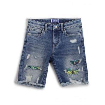 Jack & Jones Junior Dark Blue Shorts For Boys