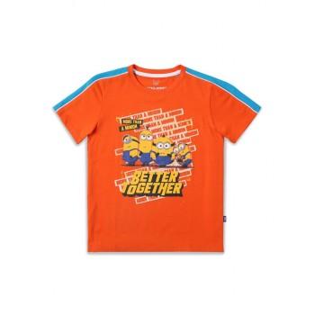 Jack & Jones Junior Orange T-Shirt For Boys