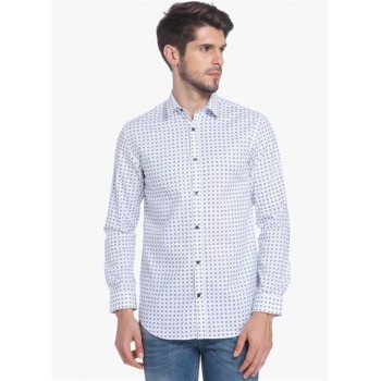 Jack & Jones Men Casual Wear Printed Shirt