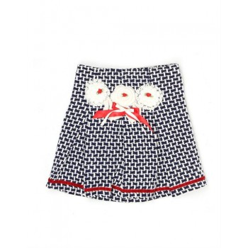 K.C.O 89 Girls Party Wear Self Design Skirt