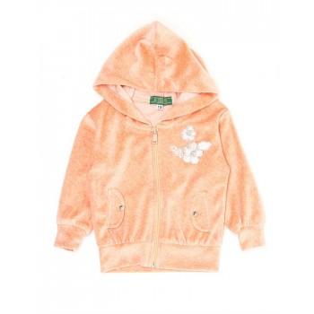 K.CO.89 Girls Casual Wear Orange Jacket