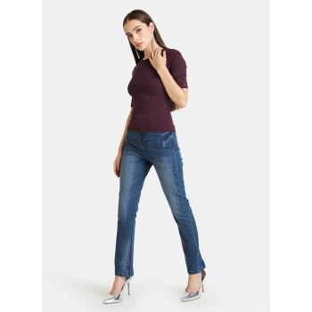 Kazo Women Casual Wear Burgundy Casual Top