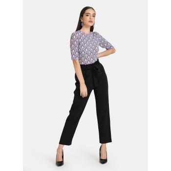 Kazo Women Casual Wear Purple Casual Top
