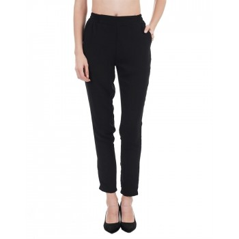Kazo Women Casual Wear Solid Trouser