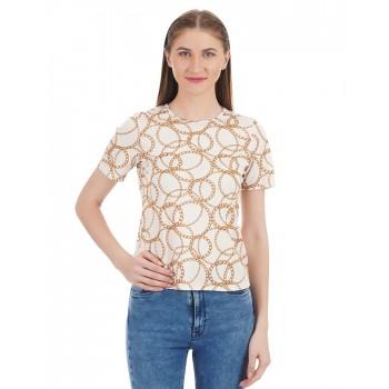 Kazo Women Casual Wear Printed T-Shirt