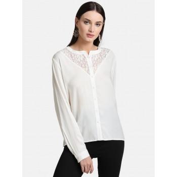 Kazo Women Casual Wear Solid Shirt