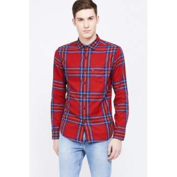 Levi's Men Casual Wear Checkered Shirt