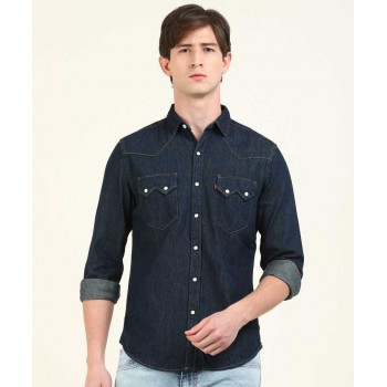 Levis Men Solid Casual Wear Shirt