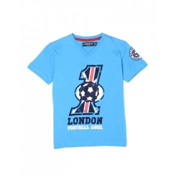 London Fog Boys Casual Wear Graphic Print T-Shirt