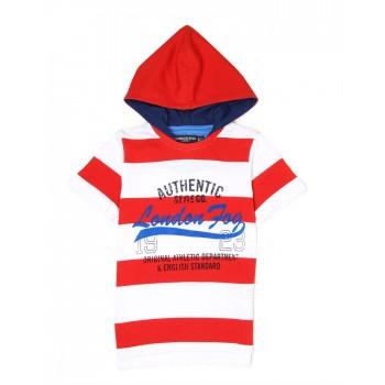 London Fog Boys Casual Wear Striped T-Shirt