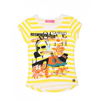 London Fog Girls Casual Wear Graphic Print Top