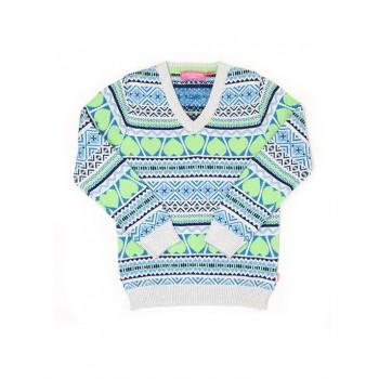 London Fog Girls Casual Wear Paisley Sweater