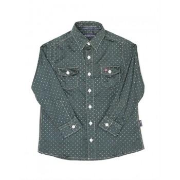 London Fog Boys Casual Wear Polka Print Shirt