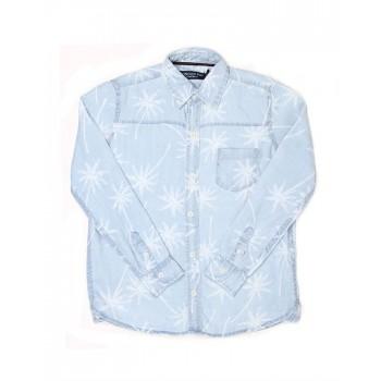 London Fog Boys Casual Wear Self Design Shirt
