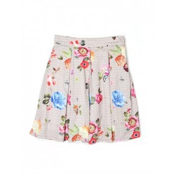 London Fog Girls Casual Wear Floral Print Skirt