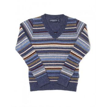 London Fog Boys Casual Wear Striped Sweater