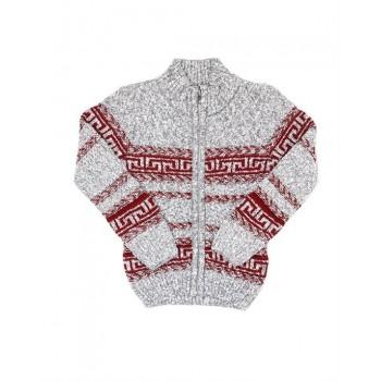 London Fog Boys Casual Wear Self Design Sweater