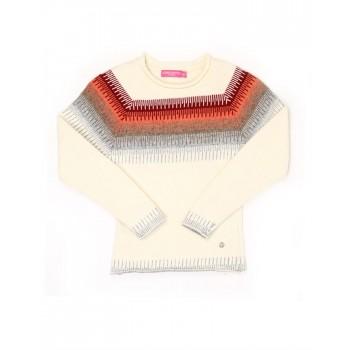London Fog Girls Casual Wear Self Design Sweater