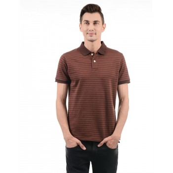 London Fog Men Casual Wear Striped T-Shirt