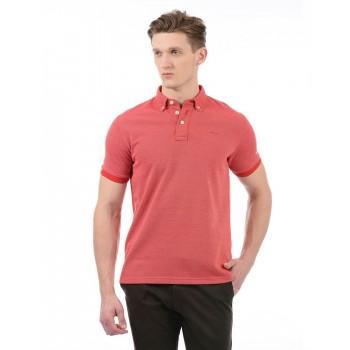 London Fog Men Casual Wear Self Design T-Shirt