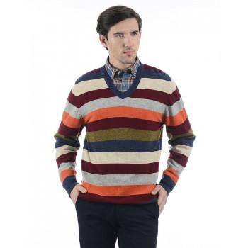 London Fog Men Casual Wear Striped Sweater