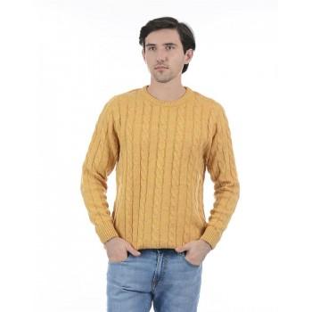 London Fog Men Casual Wear Self Design Sweater