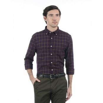 London Fog Men Casual Wear Checkered Shirt