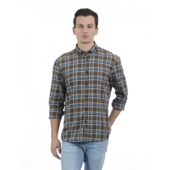 London Fog Men Casual Wear Checkered Shirt