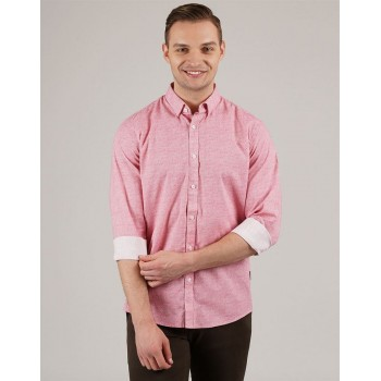 London Fog Men Casual Wear Solid Shirt